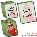 2-5x7 Photos and 8-3.5x2.5 Wallets